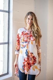 Olive Hill Floral Crepe Tunic - Front cropped