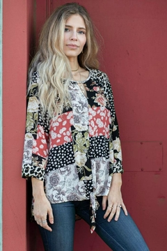 Olive Hill Floral Patchwork Blouse - Product List Image