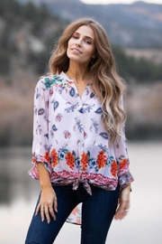 Olive Hill Floral Tie Blouse - Product Mini Image