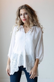 Olive Hill Scalloped Lace Blouse - Product Mini Image