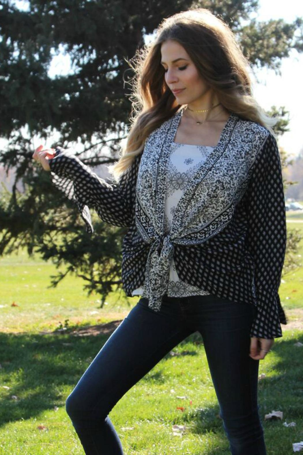 Olive Hill Tie Front Blouse - Main Image