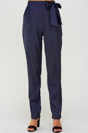 Olive Scent Side Tie Pants - Product Mini Image
