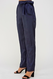 Olive Scent Side Tie Pants - Side cropped