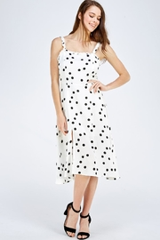 Olive Tree Polka Dot Dress - Front cropped