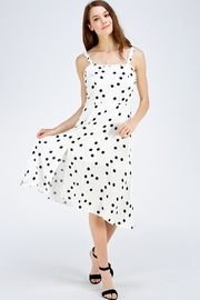Olive Tree Polka Dot Dress - Front full body