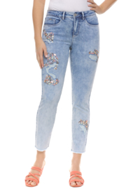 FDJ French Dressing Jeans Olivia Cigarette CropJean with Beaded Applique - Product Mini Image
