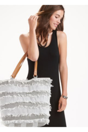 Giftcraft Inc.  Olivia Fringe Tote Bag - Front cropped