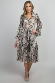 Olivia Graye Long Sleeve Button Down Ruffle Dress - Product Mini Image