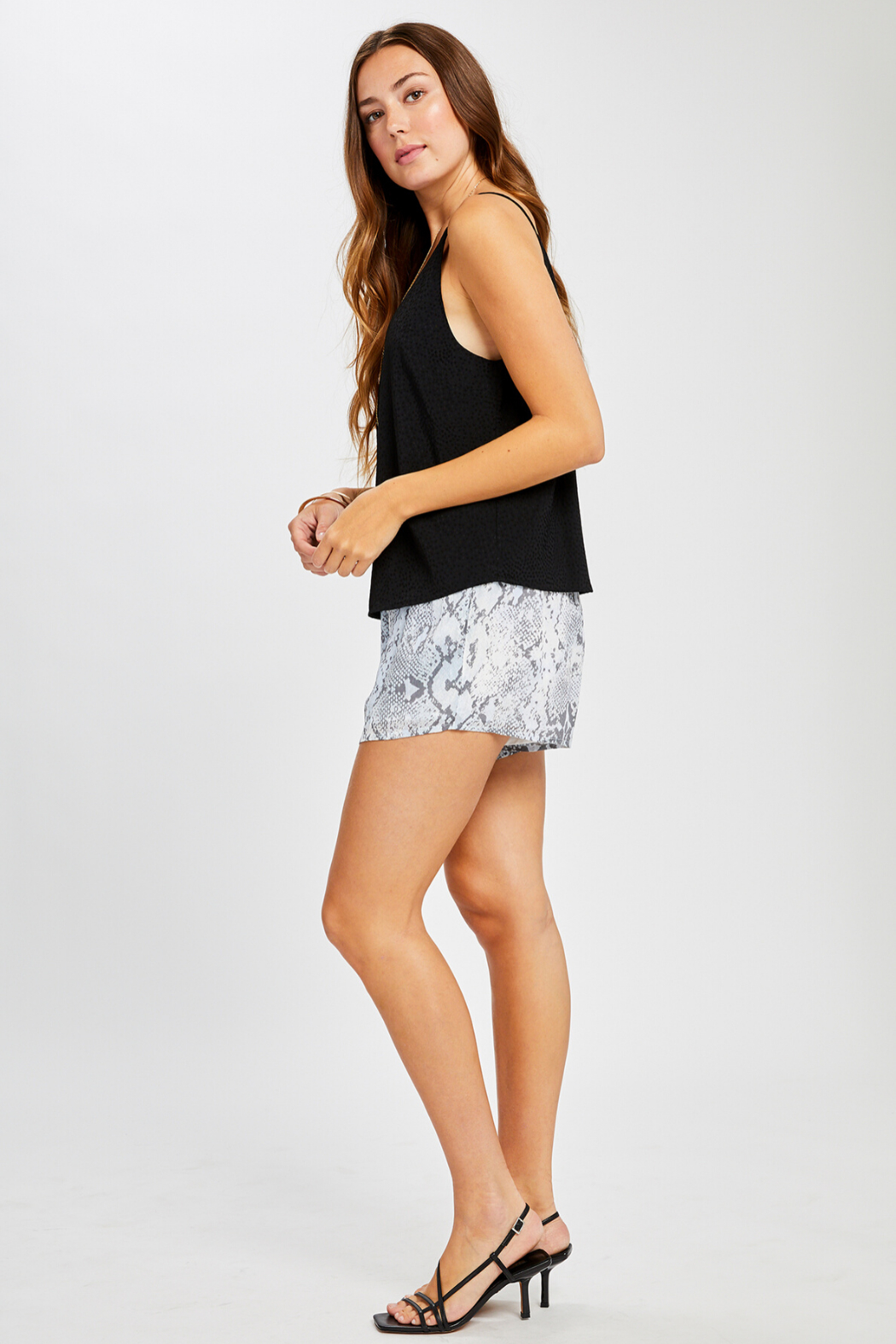 Gentle Fawn Olivia Textured Print Tank - Front Full Image