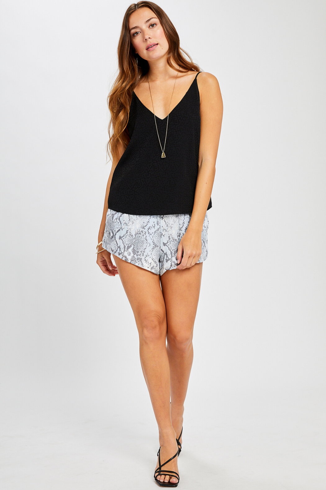 Gentle Fawn Olivia Textured Print Tank - Back Cropped Image