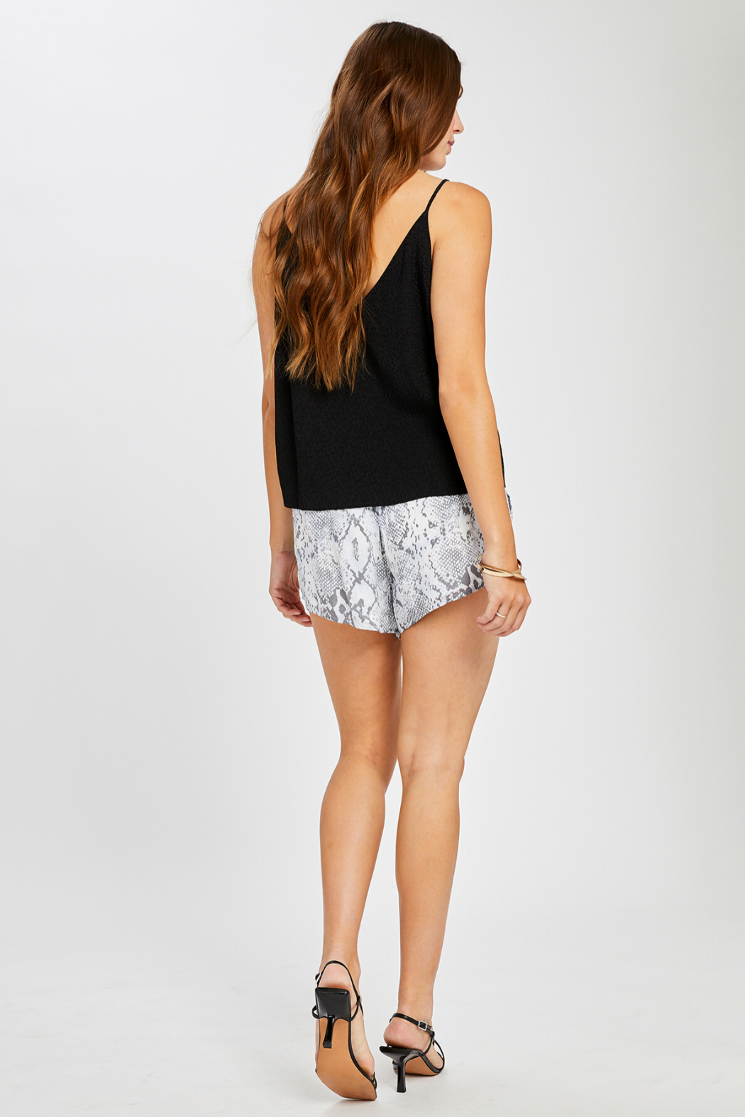 Gentle Fawn Olivia Textured Print Tank - Side Cropped Image