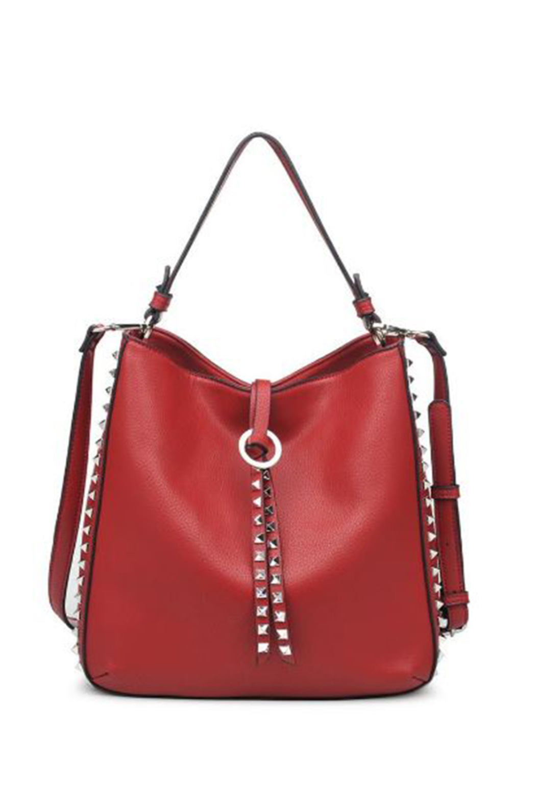 Urban Expressions Olivia Vegan Leather Hobo Tote - Front Cropped Image