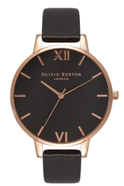 Olivia Burton Black Dial Watch - Front cropped
