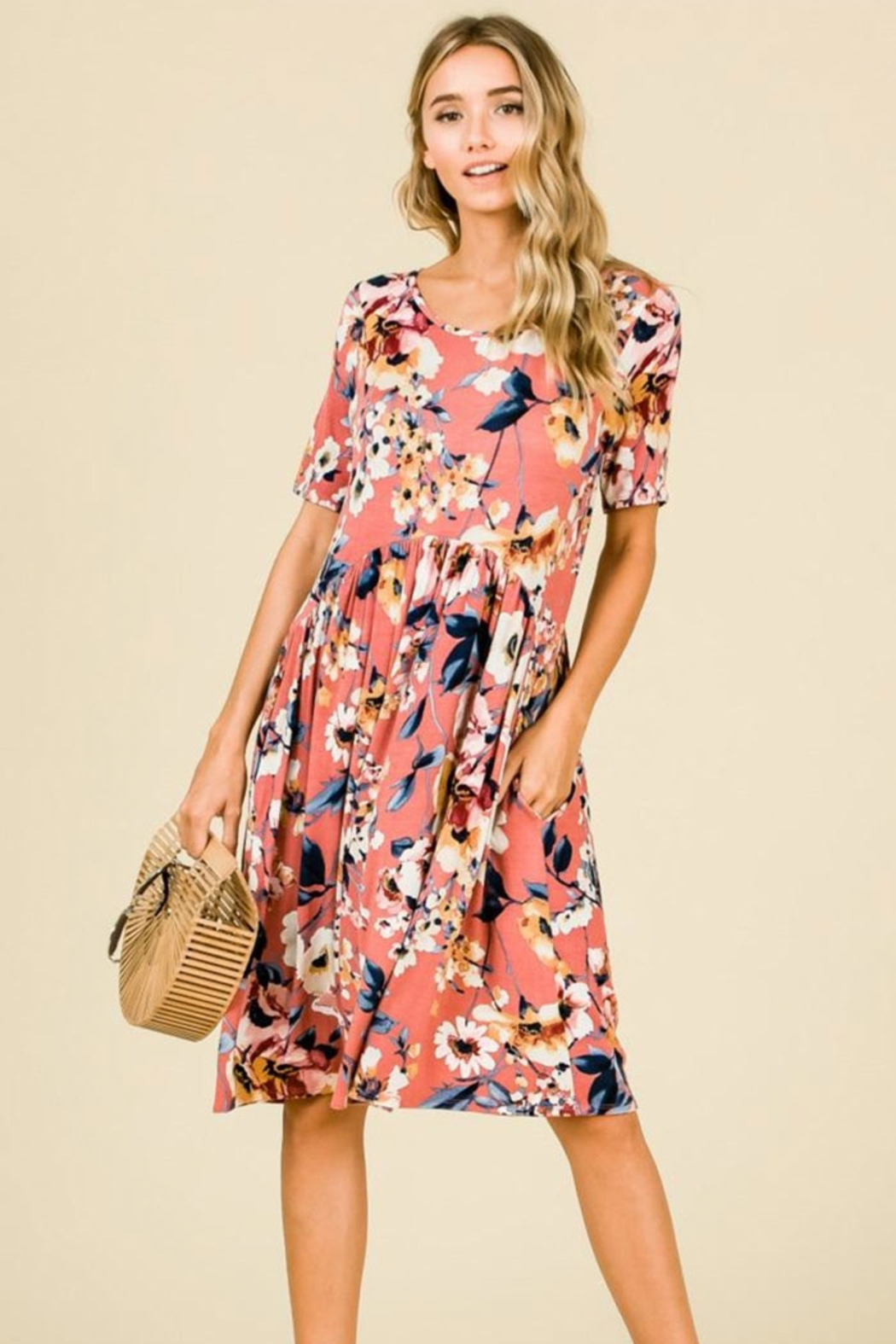 182e8f64ef94 Olivia Pratt Floral Babydoll Dress from Texas by Alivia Boutique ...