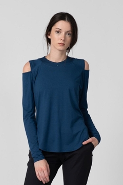 Tonic Active Olivine Cold-Shoulder Pullover - Product List Image