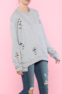 Shoptiques Product: Distressed Crew Neck Sweater