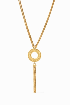 Julie Vos OLYMPIA TASSEL NECKLACE-GOLD - Product List Image