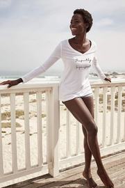 Om and Ah of London Perfectly Imperfect Long-Sleeve V-Neck - Product Mini Image