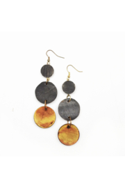 Anju Handcrafted Artisan Jewelry Omala Autumn Neutrals Collection Earrings - Mixed Circles - Product Mini Image