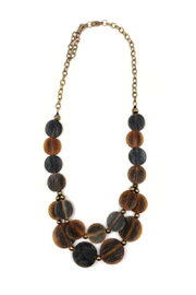 Anju Handcrafted Artisan Jewelry Omala Double Layer Necklace - Front cropped