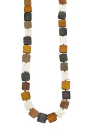 Anju Handcrafted Artisan Jewelry Omala Square Beaded Necklace - Product Mini Image