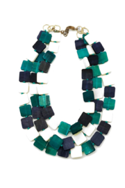 Anju Handcrafted Artisan Jewelry Omala Triple Layer Square Necklace - Product Mini Image