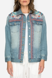 Johnny Was Collection Oman Denim Jacket - Product Mini Image