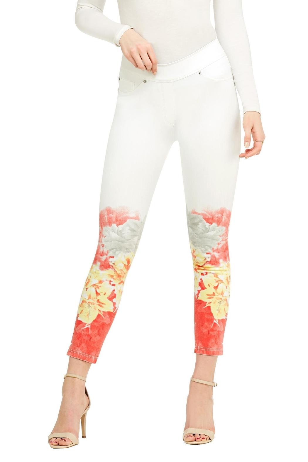 Nygard Ombréfloral Crop Jeans - Main Image