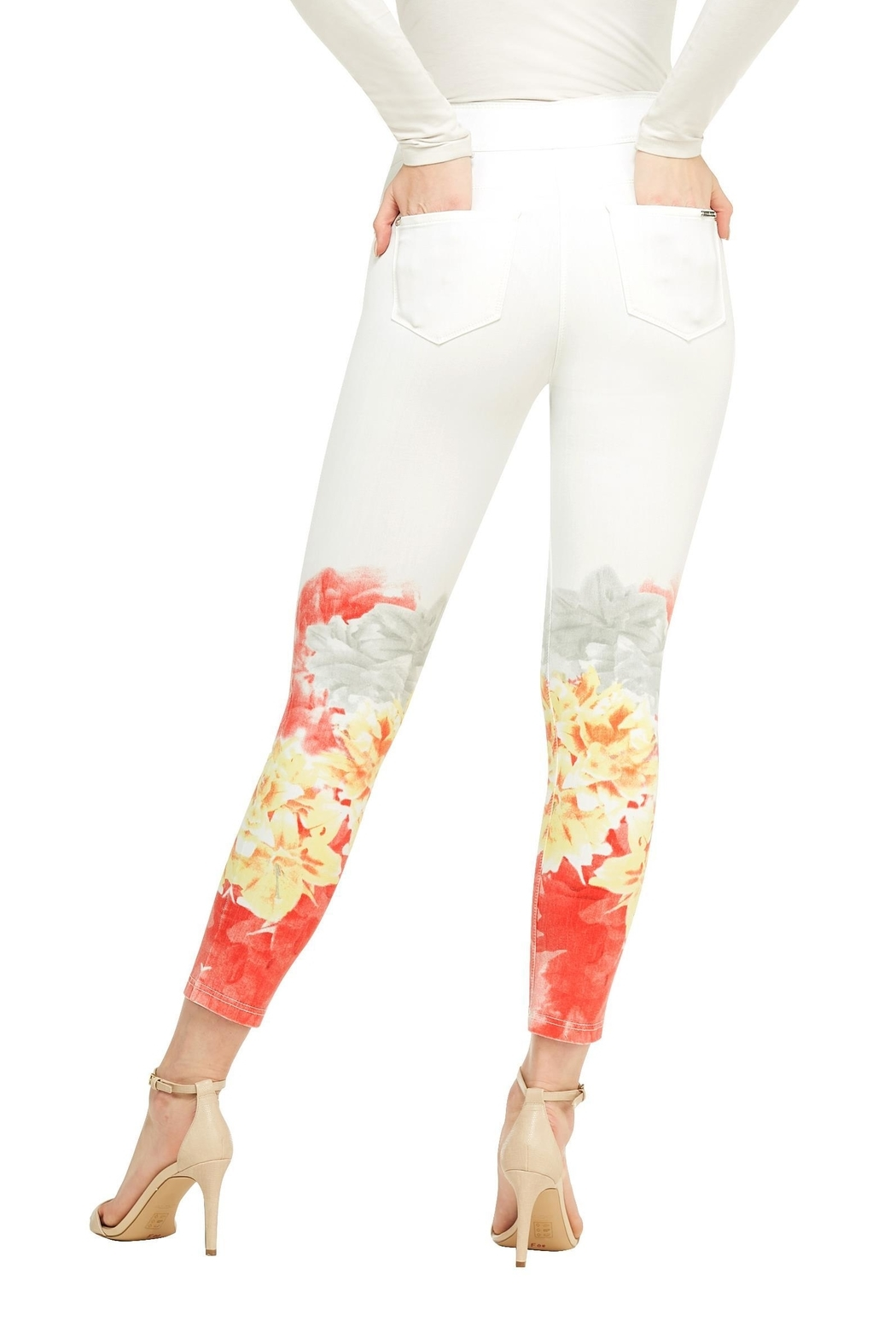 Nygard Ombréfloral Crop Jeans - Front Full Image