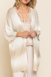 POL  Ombré Sweater Cardigan - Front full body