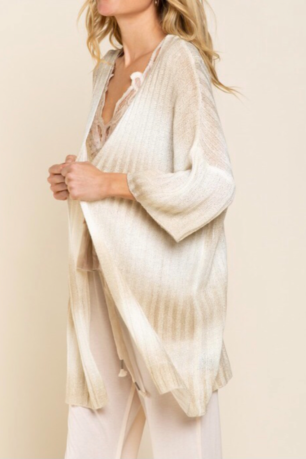 POL  Ombré Sweater Cardigan - Side Cropped Image