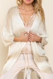 POL  Ombré Sweater Cardigan - Front cropped