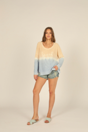 Vintage Havana  Ombre Beach Sweater - Front cropped