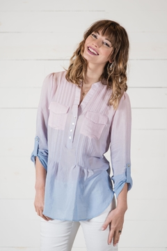 Go Fish Clothing Ombre Blouse - Alternate List Image