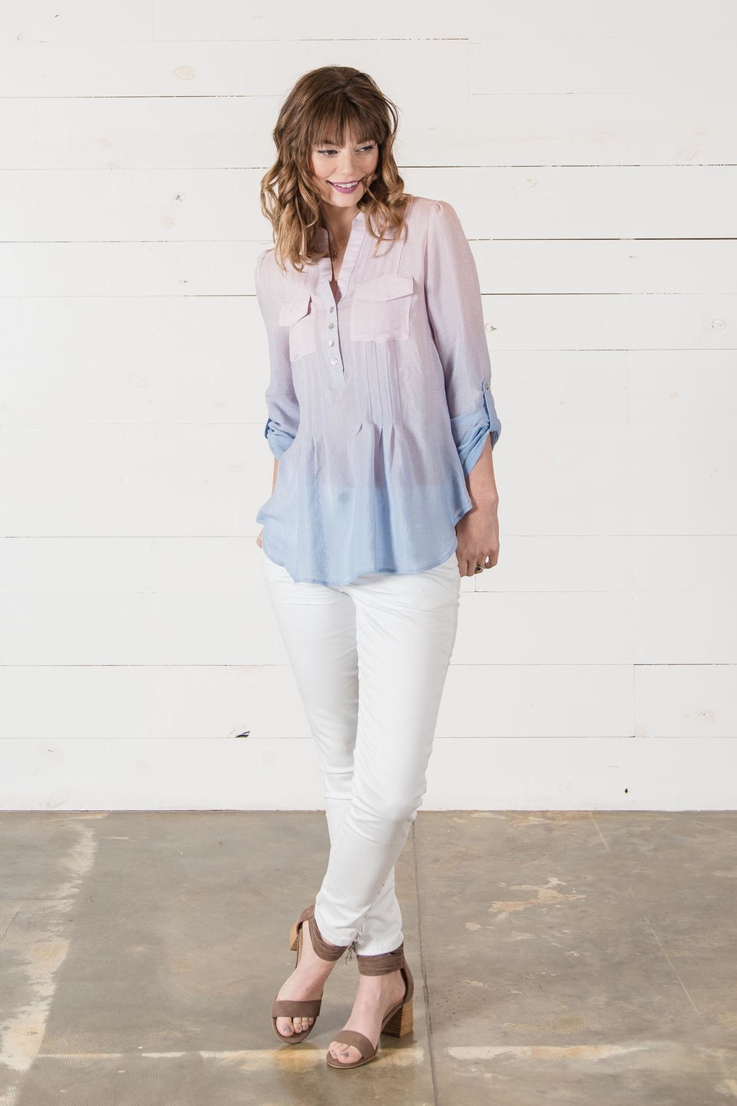 Go Fish Clothing Ombre Blouse - Front Full Image