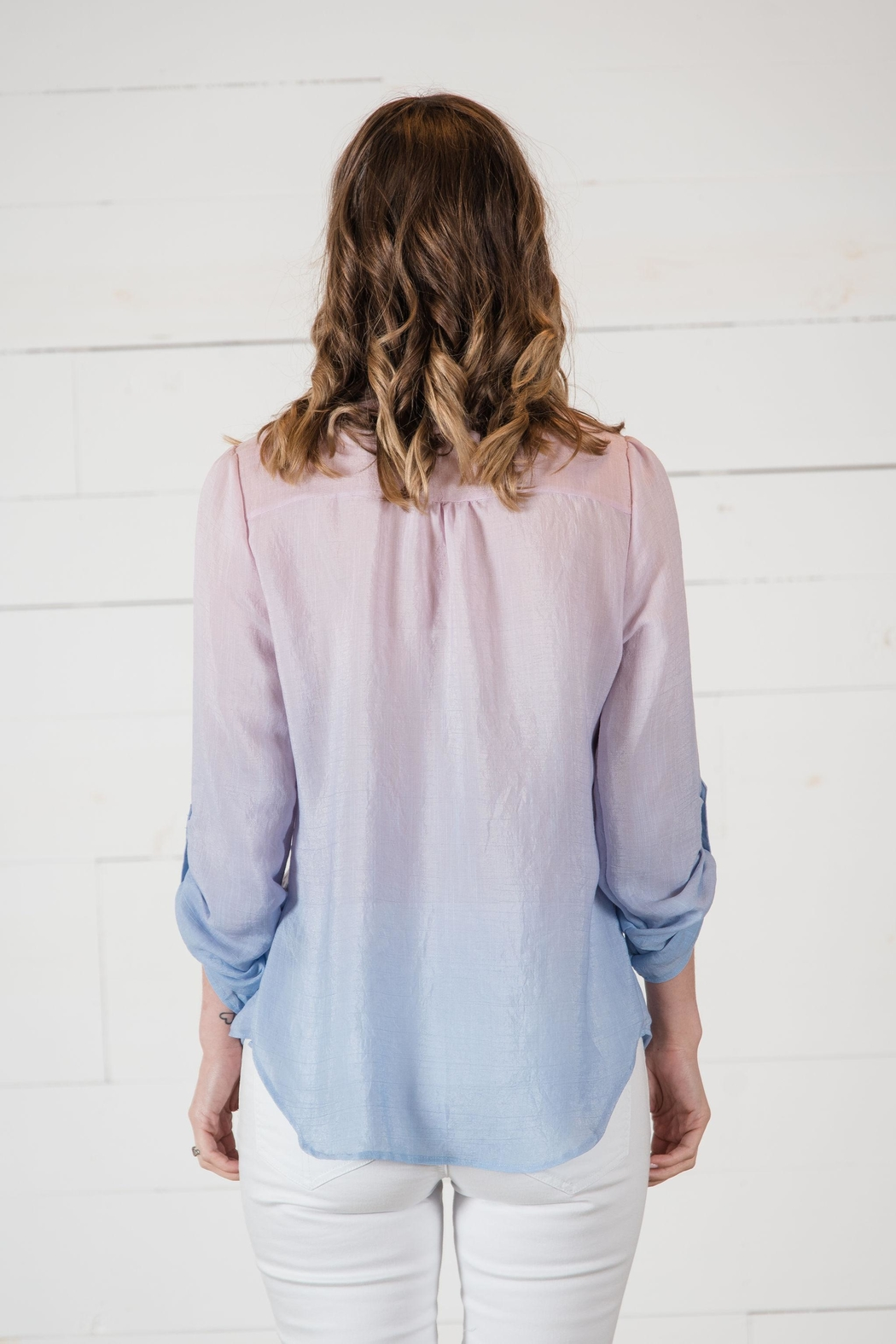 Go Fish Clothing Ombre Blouse - Side Cropped Image
