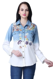 Parsley & Sage Ombre Embroidered Shirt - Product Mini Image