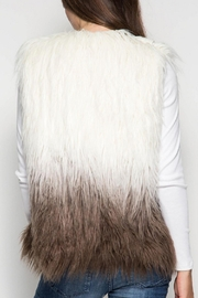She and Sky Ombre Faux Fur Vest o/s - Side cropped