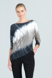 Clara Sunwoo Ombre Knit Angle Hem Top - Product Mini Image