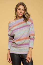Renee C Ombre Knit Off The Shoulder Sweater - Product Mini Image