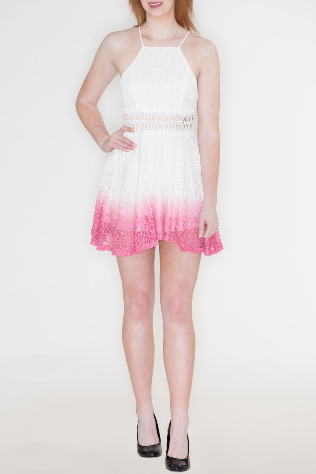 Listicle Ombre Lace Dress - Main Image