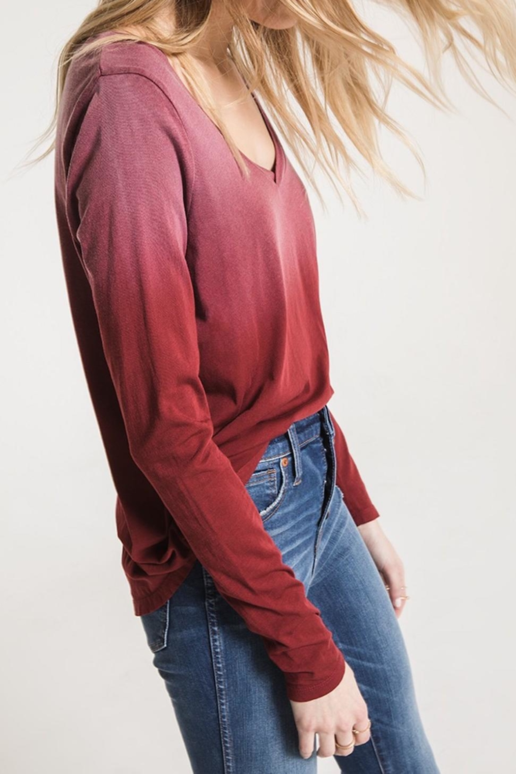 z supply Ombre Long Sleeve - Front Full Image
