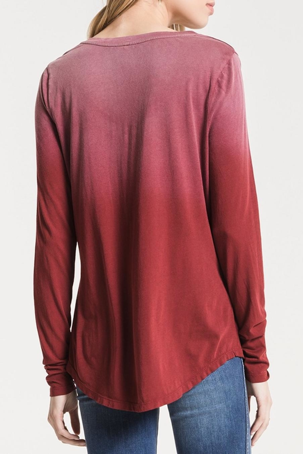 z supply Ombre Long Sleeve - Back Cropped Image