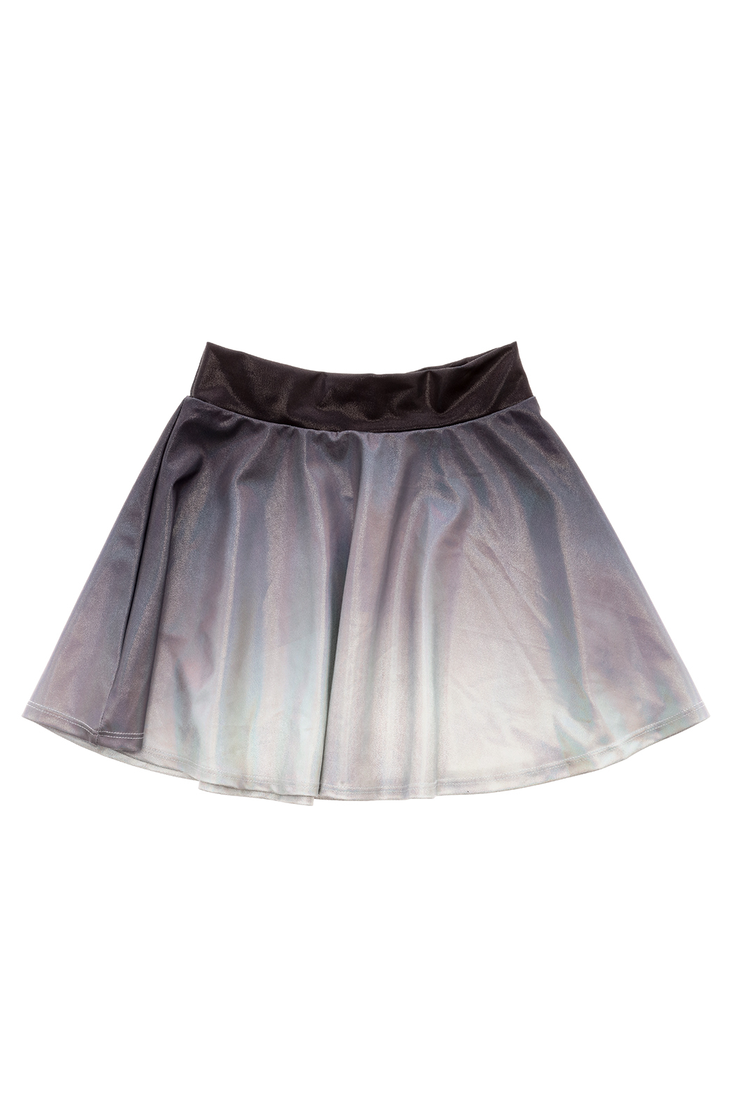 Rock Candy Ombre Metallic Skirt - Back Cropped Image