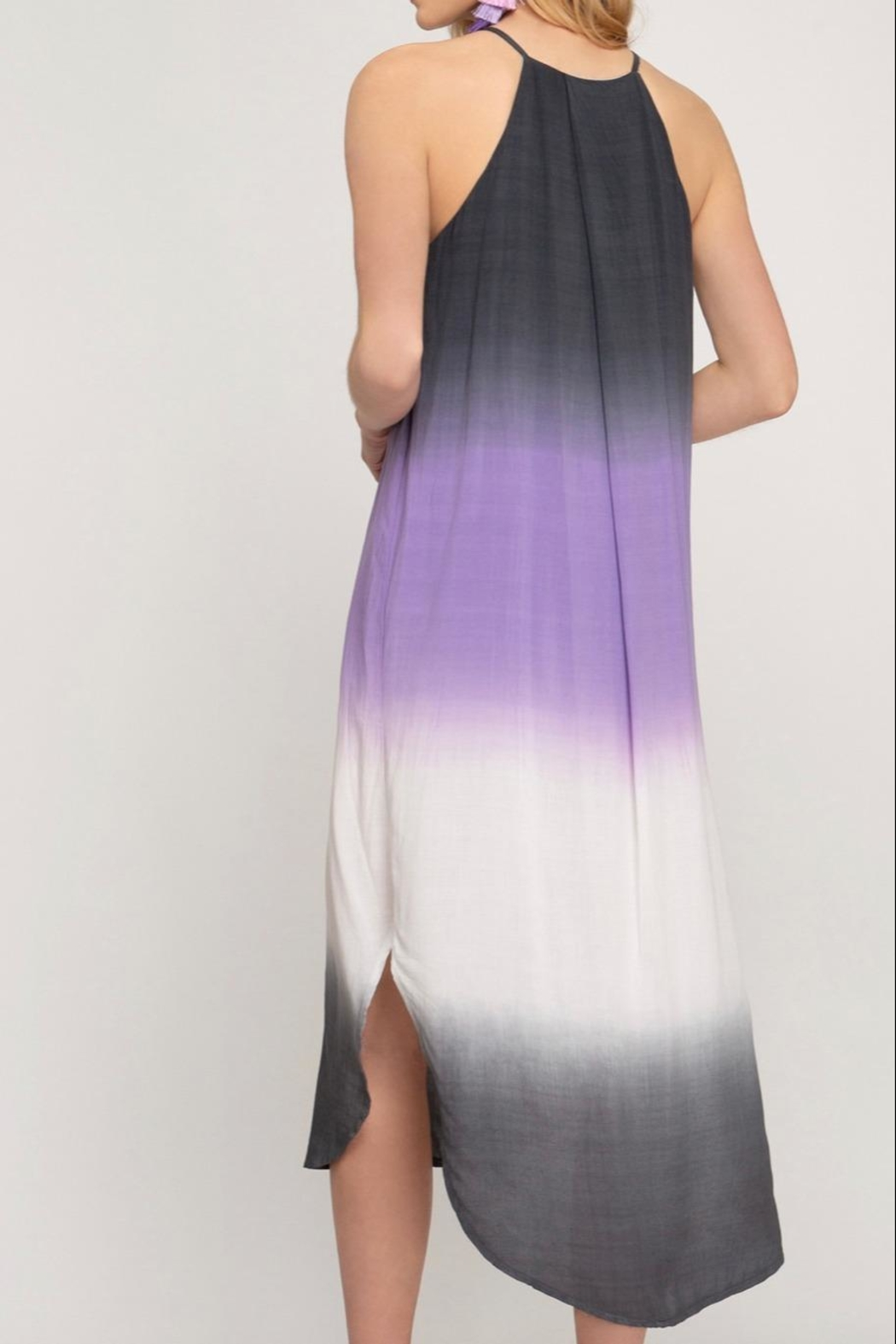 She + Sky Ombre Midi Dress - Front Full Image