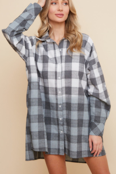 saints and hearts Ombre Oversized Flannel - Alternate List Image