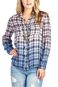 BD Collection Ombre Plaid Top - Product List Image