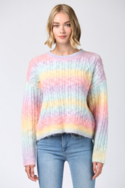 Fate Inc. Ombre Rainbow Pullover Sweater - Product Mini Image