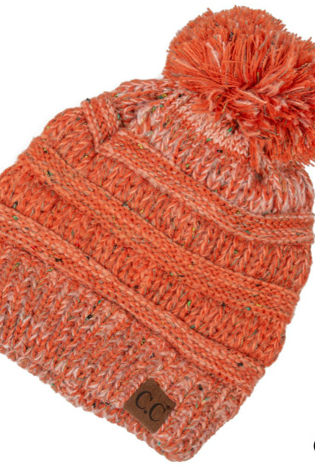 Judson & Co. Ombre ribbed hat - Front Cropped Image