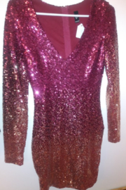 windsor Ombre Sequin Burgundy Dress - Product Mini Image